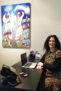Alaina Gigiuere in her new office in downtown Cannon Beach.