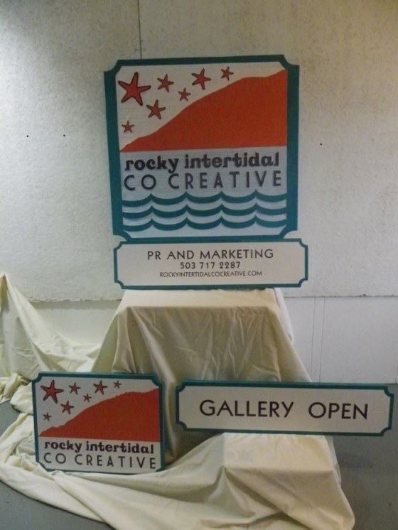 Susan Walsh created these signs for us - Rocky Intertidal CoCreative!